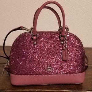 Coach mini sierra glitter satchel